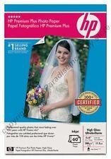 Lot1260 HP PREMIUM PLUS PHOTO picture PAPER 75lb 4 x 6 High Gloss/Glossy,Q1978A