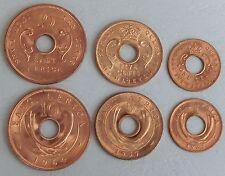 Ostafrika / East Africa 1,5,10 Cents 1957-1964 unz.