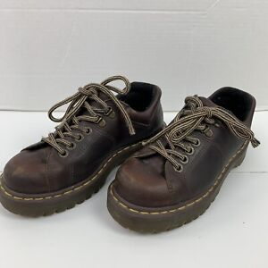 Us Shoe Size 7 In Uk.Details About Dr Martens Doc Men S Brown Leather Lace Up Oxfords Us Shoe Size 7 Uk 6