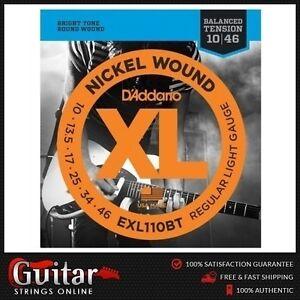 D/'Addario EXL110BT 10-46 Balanced Tension Light Electric Guitar Strings