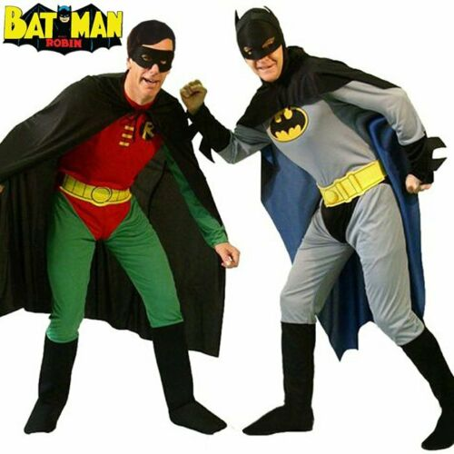 Adult Batman Robin Superhero Cosplay Outfit Gents Stag Party Mens Fancy Costume