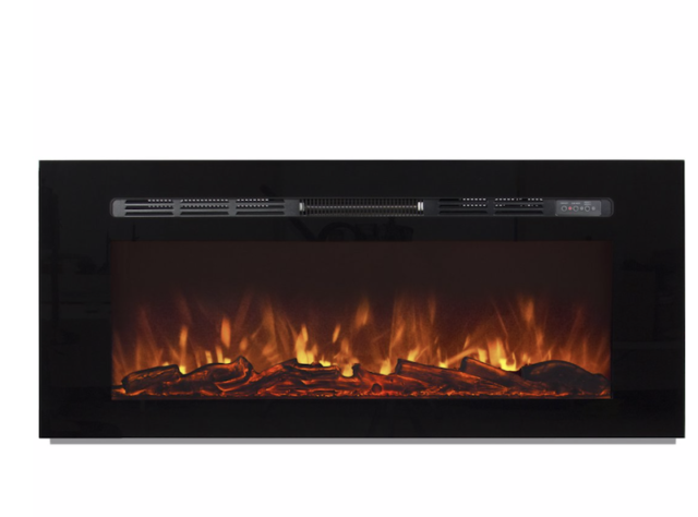 Best Choice Products Large 1500W Heat Adjustable Electric Wall Mount /& Free Standing Fireplace Heater with Glass XL