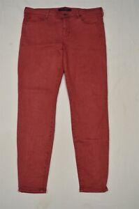 Liverpool-14-32-Hugger-Ankle-Skinny-Red-Stretch-Denim-Jeans