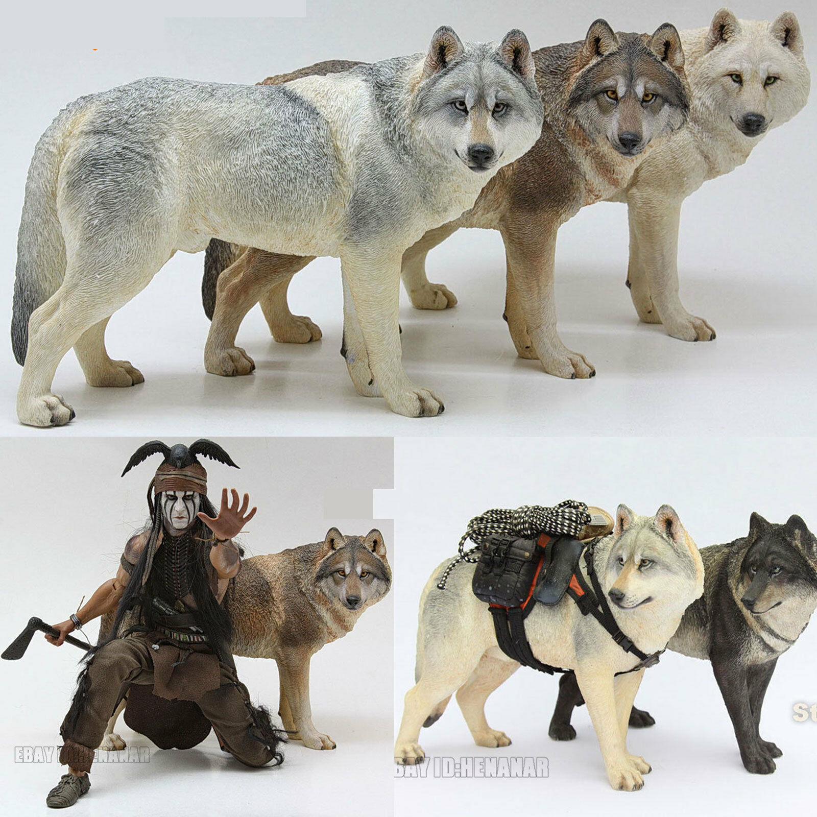 1 6 Scale Mr.Z Animal Toys Steppe Wolf Resin Figure 4 color Model Present New