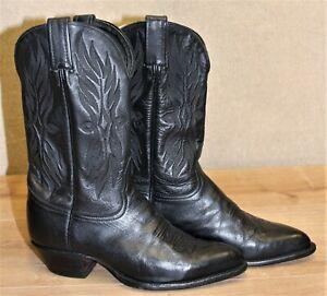 Bottes western santiag femme TONY LAMA cuir noir 6M US 4,5 UK 37,5 EUR 24 cm