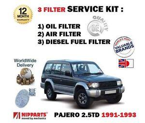 PER-MITSUBISHI-PAJERO-2-5TD-Import-1991-1993-Filtro-olio-carburante-ARIA-KIT