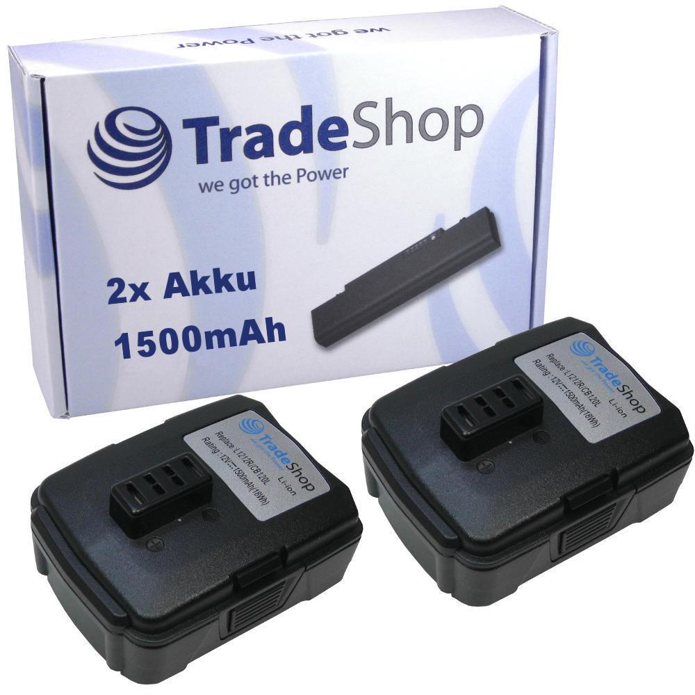 2x AKKU 12V 1500mAh Li-Ion für Ryobi HP612K JG001 LSD1201PB LSD1202PB CHL12K
