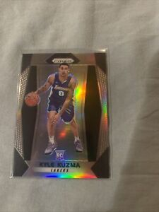 Kyle-Kuzma-2017-2018-Panini-PRIZM-SILVER-Rookie-Rc-283-Los-Angeles-Lakers