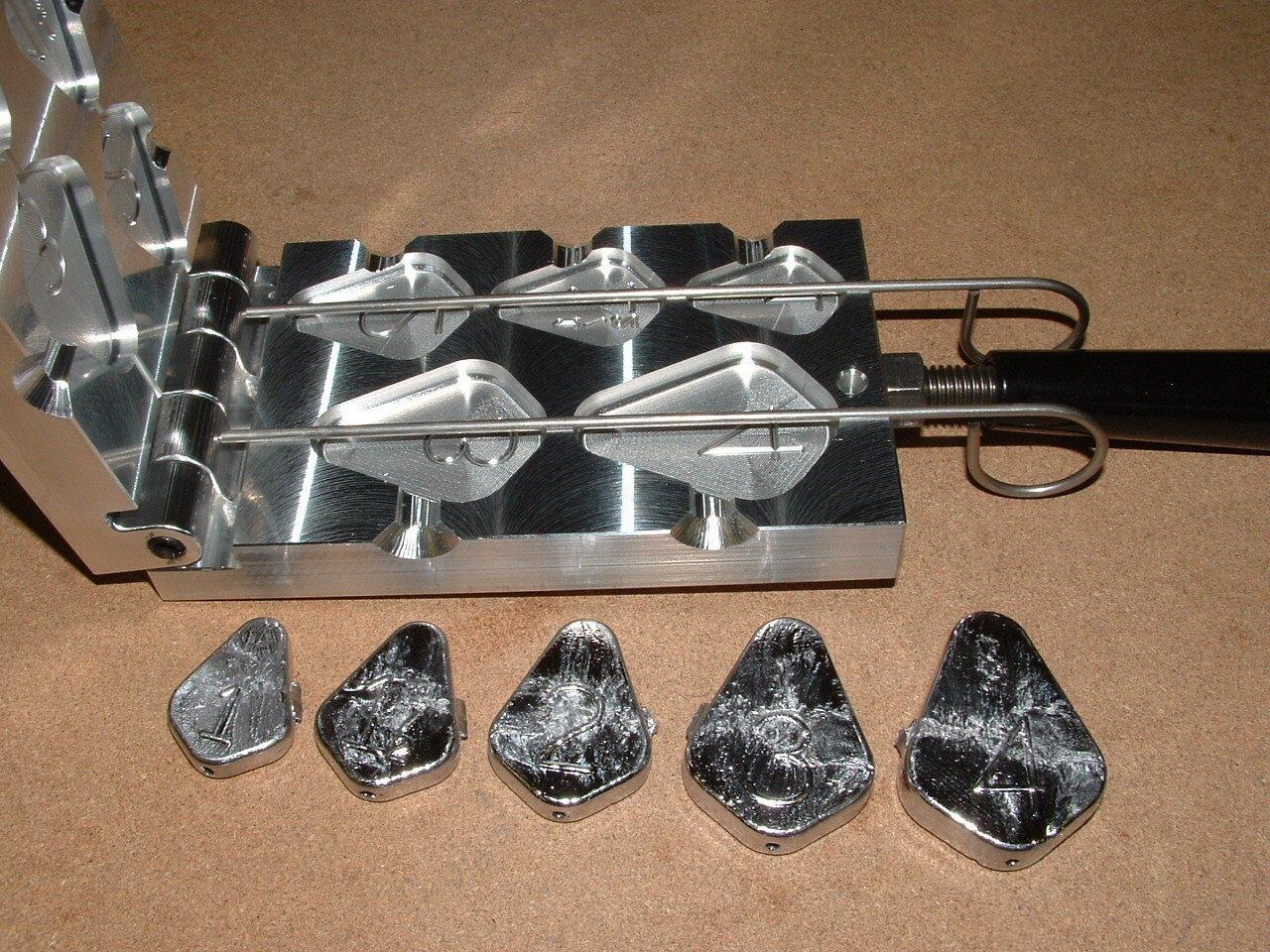 Saltwater no Roll Slip Plomo Molde 1-4oz CNC Aluminio Fishfinder Bagre