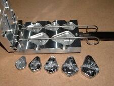 Saltwater No Roll Slip Sinker mold 1-4oz CNC Aluminum Fishfinder Catfish