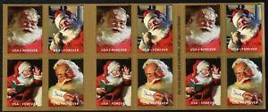 20 Sparkling Holidays Christmas 2018 Santa USPS Forever Stamps