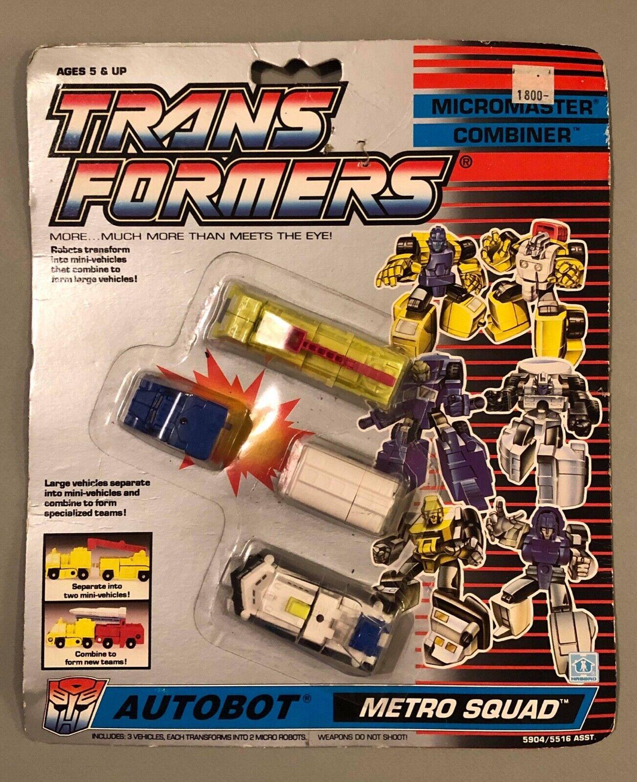 Vintage HASBRO Transformers G1 Micromaster Combinador Autobot Metro Escuadra Blister