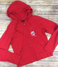 EMILY THE STRANGE Posse Red Hoodie Sweatshirt Hot Topic Size M Graphic Jacket C8