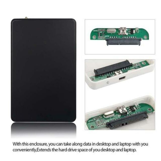 USB 2.0 Durable HDD Enclosure Hard Drive External Case Box for 2.5 Inch SATA FZ