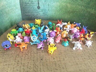 60 PCS POKEMON GO Figure Minifigures Cake Topper Party Favors Pikachu RANDOM USA