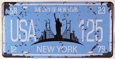 The City Of New York Car License Plate Vintage Retro Metal Tin Signs Wall Plaque