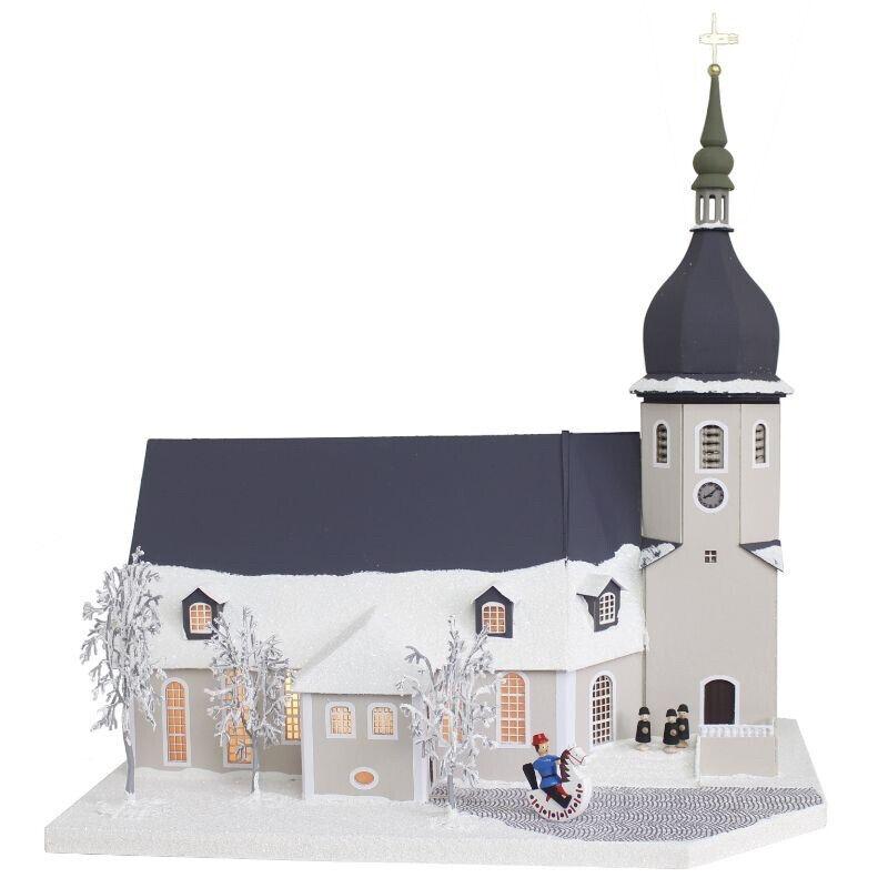 Erzgebirgisches Lichterhaus Stadtkirche Olbernhau echte Handarbeit LH404