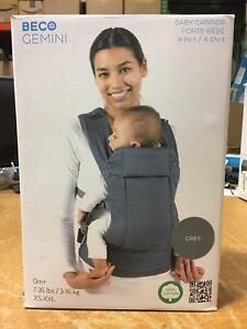 5ddd8367e2d Beco Gemini Baby 4 in 1 Carrier 0m+ 7 to 35lbs XS-XXL in Gray ...