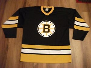 pretty nice 09534 d58e1 Details about VINTAGE BOSTON BRUINS HOCKEY JERSEY OLD ULTRA-FIL KNIT  MATERIAL SIZE MEDIUM (48)