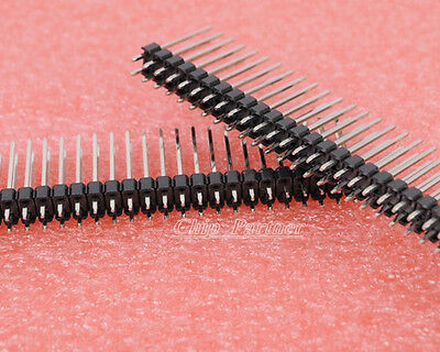 10pcs 2x40 Pins 2.54mm Double Row Male Pin Header 19mm extended Pin