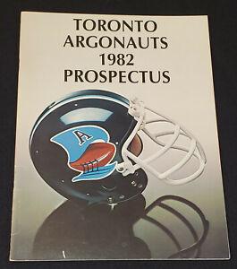 1982-TORONTO-ARGONAUTS-CFL-FOOTBALL-PRE-SEASON-PROSPECTUS-ORIGINAL