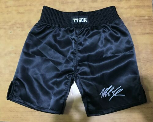 small medium and Large Auyographed Boxing Shorts Mike Tyson for Youths