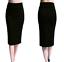 Ladies-Plain-Office-Womens-Stretch-Bodycon-Elegant-Midi-Pencil-Skirt-Dress-S-XXL thumbnail 12
