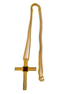 36 Inch Silver Plate Clergy Chain Less Expensive Fine Jewelry Precious Metal Without Stones
