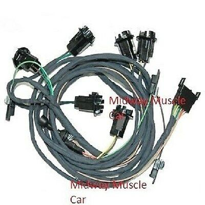 rear body tail light wiring harness 67 Pontiac GTO 1967 coupe & post ram air