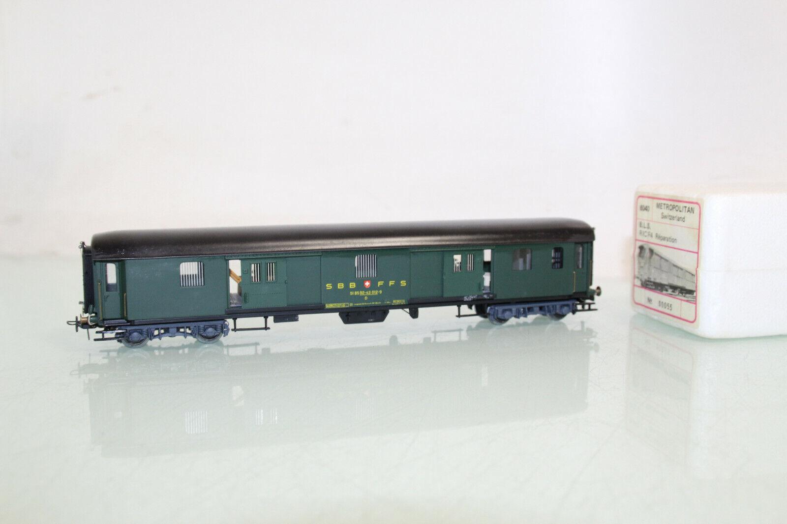 Metropolitan h0 6030 Cochero para el equipaje d de la SBB iluminado en evp (cl7482)