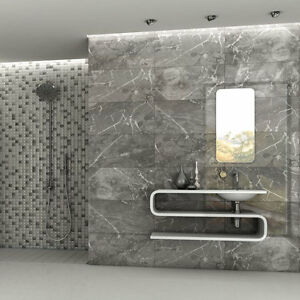 Image Is Loading Zoetic Vanilla Grey Marble Effect Ceramic Floor Tile