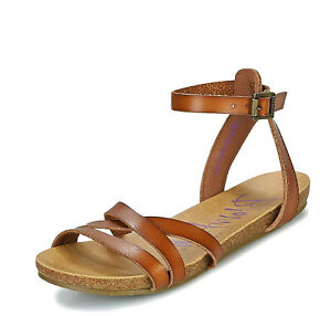 classic style popular brand separation shoes Blowfish NEW Galie scotch tan flat ankle strap open toe strappy ...