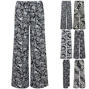 Hospitalier Femme Femmes Imprimé Taille Haute Palazzo Jambe Large Évasé Pantalon Pantalon Legging-afficher Le Titre D'origine