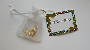 Christmas-Pudding-Charms-Twelve-Pressed-Brass-Mixed-Designs-Free-P-amp-P