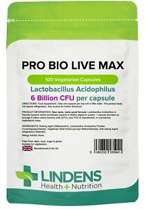 Pro-Bio-Live-Max-Acidophilus-FOS-with-Prebiotic-100-pack-Lindens-5941