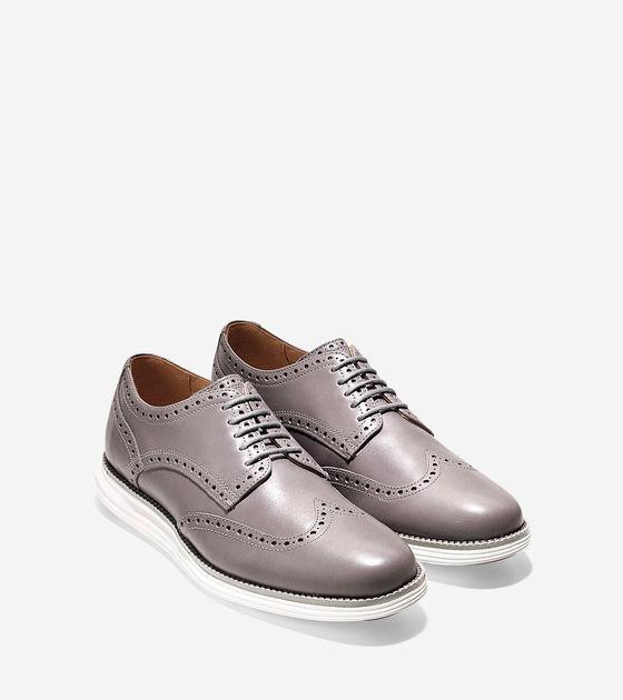 New Cole Haan LUNARGRAND WINGTIP Oxford shoes size 11.5  Cloud Burst-Optic White