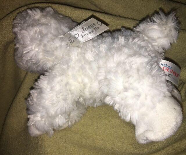 Jesus Loves Me Plush Lamb Gund 320077 White Stuffed Animal Ebay