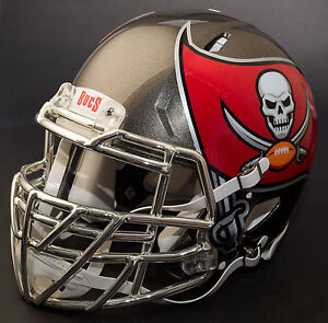 324373d5 Details about *CUSTOM* TAMPA BAY BUCCANEERS Riddell SPEED Full Size Replica  Football Helmet
