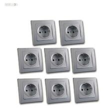 Delphi Double Outlet White With Earthing Contact Socket 16a