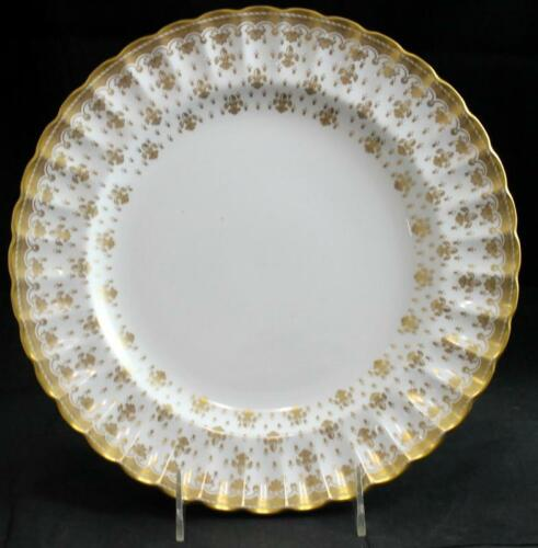 Spode FLEUR DE LYS GOLD Dinner Plate Bone China Y8063 GREAT CONDITION