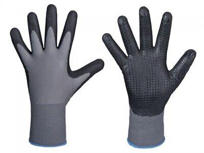 12 Paar Arbeitshandschuhe Latexhandschuhe DK-Safe Flex-Grip Nylotex 3520