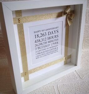 Golden Wedding Anniversary Gift Frame 50th Wedding 50th Birthday