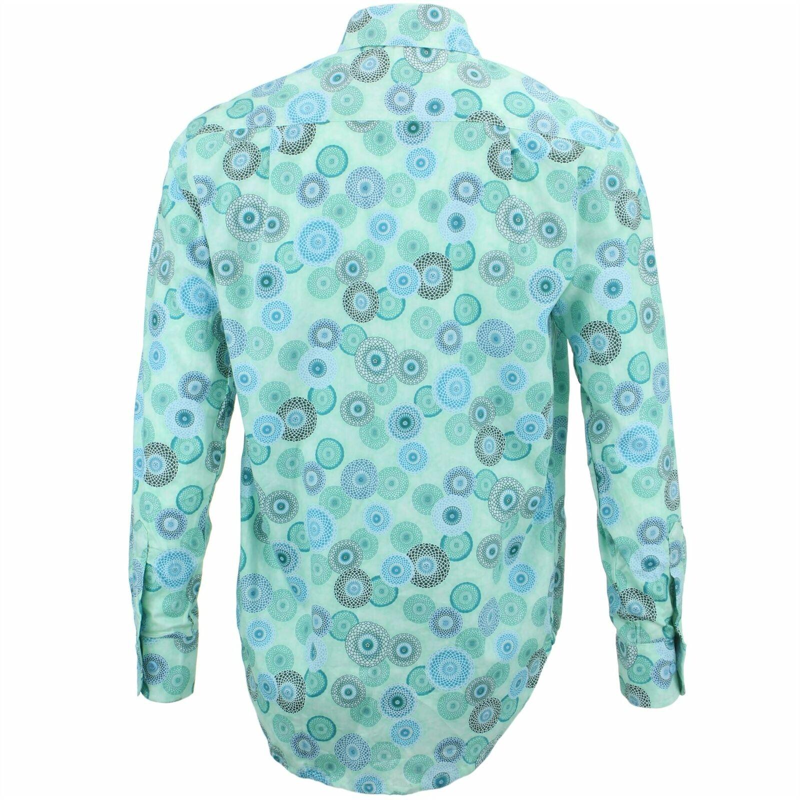 Camicia da Uomo Loud Originals Regular Geometrico Geometrico Geometrico verde Rétro Psichedelico a2c583