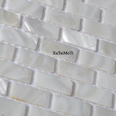 White Brick Shell Mosaic Tile Mother Of