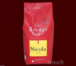 Nicola Coffee Beans Bocage Creamy Portuguese 250g - 0.55lb, Arabic & Robusta