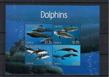 Tuvalu 2013 MNH Dolphins 4v M/S Marine Mammals Whale Dolphin Pilot Risso's