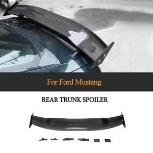 Carbon Heckspoiler Kofferraum Spoiler Lippe Flügel Passt für Ford Mustang 15-20