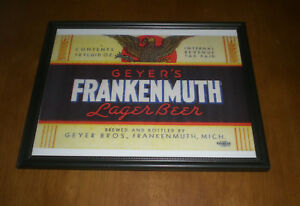 GEYER BROTHERS GEYER/'S FRANKENMUTH LAGER BEER FRAMED PRINT YOUR CHOICE