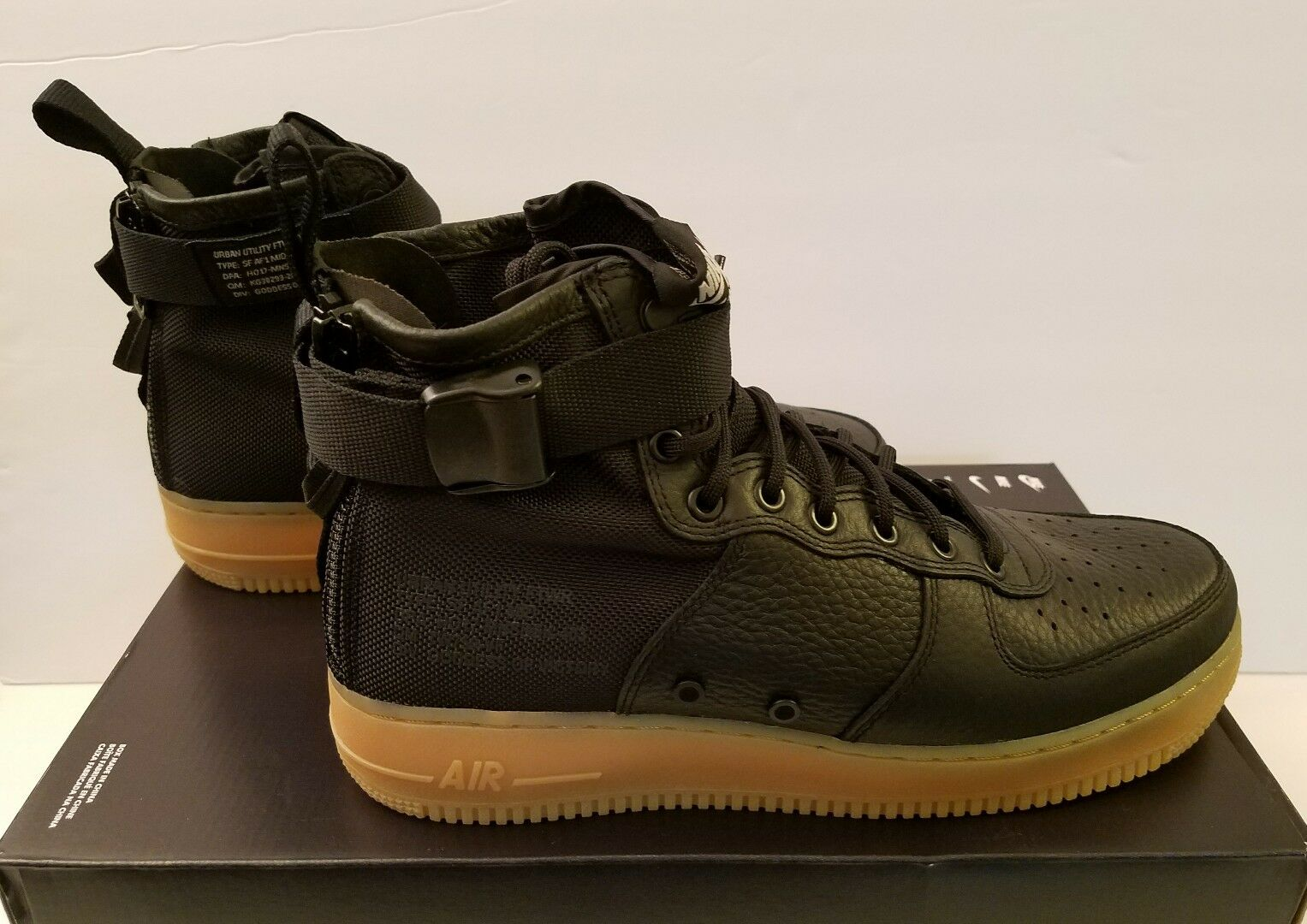 Nike Special Field Air Force 1 MID SFAF1 Black/Gum Size 10 - 917753 003