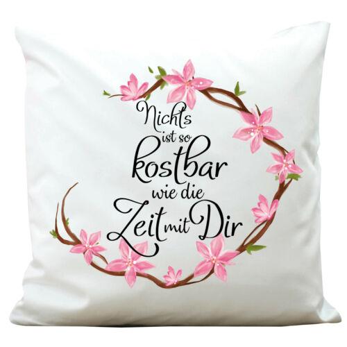 Coussin fleurs couronne anniversaire cadeau chers amis Polyester sort kp376